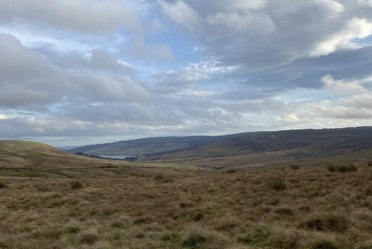 View of Redesdale valley from Whitelee Moor NNR